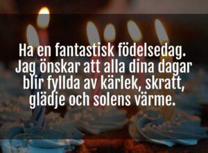 fina ord på födelsedagen